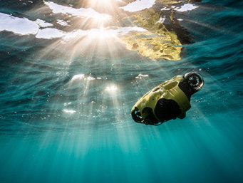 Drone submarino para monitorizar e inspecionar infraestruturas